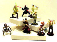 Star Wars Episode 1 Gift Pack- PVC Figure Complete Set of 8 w ID Card Set of 6