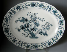 "Nikko Ming Tree Double Phoenix SMALL PLATTER  12"" LONG X 9 1/2"" ACROSS"