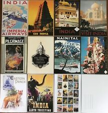 More details for 20 vintage travel images of india on quality postcards