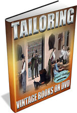 MENS TAILORING ~ Vintage Books on DVD ~ Design, Suit Cutting, Fitting, Garments