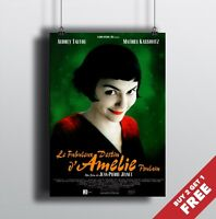 AMELIE MOVIE POSTER, Classic French Movie Film Print in A3, A4 Size Options