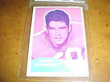 1960 Fleer Football Red Blue Wrongback Proof John Carson Mike Simmons Titans AFL