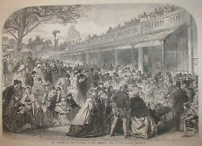 ZOOLOGICAL SOCIETY REGENT'S PARK LONDON ENGLAND 1866 ILLUSTRATED LONDON NEWS