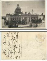 LEIPZIG um 1920 alte Postkarte Strassen Partie Reichsgericht Sachsen AK PK