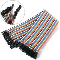 40PCS 20cm Dupont Wire Female to Female Connector Cable,2.54mm 1P-1P For Arduino