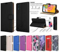 For Samsung Galaxy A01, A015 Shockproof Leather Wallet Phone Case + Screen Guard