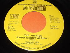 The Archies: Everything's Alright / Together We Two 45