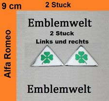 2x Alfa Romeo Quadrifoglio 90mm x75 Dreieck Emblem Kleeblatt Verde LINKS+RECHTS