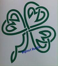 Car Decal Keltic Irish Clover And Hearts Truck Window Vinyl Wall Sticker