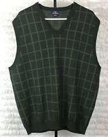 Brooks Brothers 346 XL Mens Sweater Vest Extra Fine Italian Merino Wool V Neck
