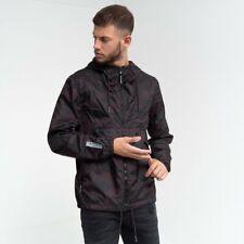 Duck and Cover - Men's 'Gillard' Hooded Camo Water Resistant Raincoat Jacket