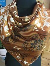 Tuch, Schal, Kopftuch, warme Farben, beige ca. 87 x  86cm, leicht, NEUWARE