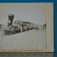 More details for 1859 canada stereoview photo locomotive & cars gwr clifton statn william england