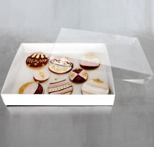 Loyal Bisquit Cookie Cardboard White Black Box with Window - Square