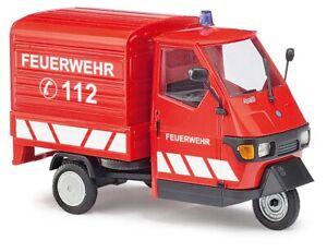 "Busch 60055 piaggio ape 50 "" Fire Brigade "", Gauge 0, 1:43"