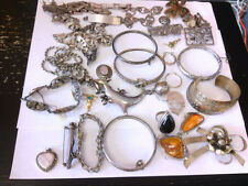 Assorted SS/(925) WEARABLE/RESALE/REPAIRABLE Jewelry. TOTAL OVER 1000 GRAMS!!
