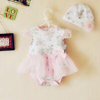 Girl Baby Toddler Cap Hat+Romper Bodysuit Tutu Clothing Set Outfits Ropa de Bebe