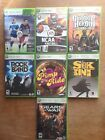 XBOX 360 7 GAMES LOT BUNDLE (USED ONLY ONCE) GREAT CONDITION