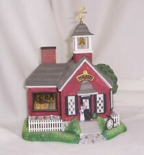 PartyLite Olde World Village School House Hand Painted Bisque Porcelain Retired
