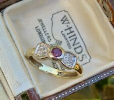 18ct Yellow Gold & Platinum Art Deco Ruby and Diamond Bow Ring SIZE N