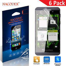6X Nacodex HD 4.3'' Clear Guard Film Screen Protector for BlackBerry 10 Z10