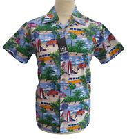 Relco Mens Hawaiian Short Sleeve Shirt 50s Aloha Retro Beach Surf Bowling