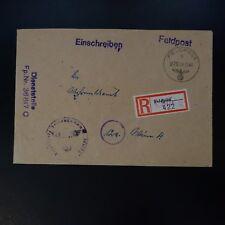 ALLEMAGNE LETTRE RECOMMANDE FELDPOST BRIEF 04.11.1944 -> WIEN ÖSTERREICH