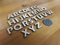 52x Wooden LETTERS plywood Craft Wedding Card Making Number -  2 sets of 26