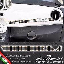 Adesivo Stickers Fiat 500 plancia Abarth Moda Burb Line