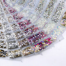 1788pcs Mixed Size 3D Nail Art Rhinestones Flatback Crystal AB Gems Glass Stones