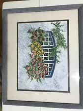 Original watercolor painting frame matted & framed