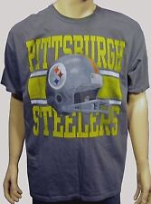 NEW Pittsburgh Steelers Screen Print Show Boat Helmet S/S Gray Tee Shirt XL NWT
