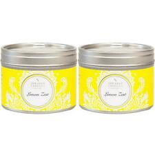 2 x Shearer Candles Home, Lemon Zest, Small, Scented Tin Candle - 20 Hours Burn