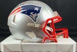 Stephon Gilmore autographed signed speed mini helmet New England Patriots PSA