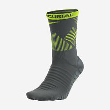 NIKE STRIKE MERCURIAL Dri-FIT Soccer Crew Socks SX5437-021 (6-7.5) Grey/Volt