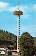 GATLINBURG TENNESSEE SPACE NEEDLE~342' ABOVE THE GROUND POSTCARD 1969