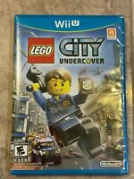 NEW Lego City: Undercover Nintendo Wii U 2013 First Print Blue Case