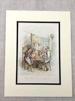 1910 Antico Stampa Charles Dickens Cricket Su Il Focolare Caleb Plummer Bertha