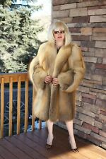Natural Golden Island Fox Fur Coat - Made in Italy GORGEOUS!