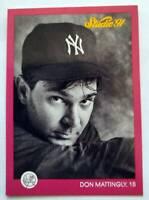 Don Mattingly Leaf Studio 1991 MLB Trading Card #97 New York Yankees