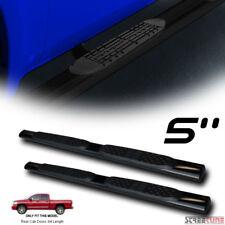 "5"" Tube Black Side Step Nerf Bars Rail Running Board 02/03-09 Dodge Ram Quad Cab"