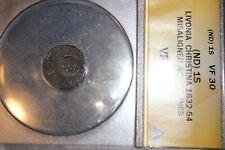 ANACS Certified 1S VF Livonia Christina 1632-54 Misaligned Roller ERROR