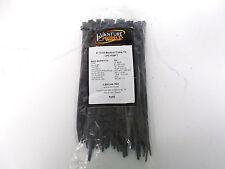 "8"" Cold Weather Resistant UV Black Cable Zip Tie 100 Quantity 50 lb Load 8"" Long"