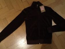 """NWT Juicy Couture New & Gen. Ladies Small Brown Velour Jacket With """"J"""" Zip Pull"""