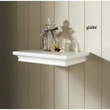 New 30cm Floating Wall Shelf Classical Style WHITE