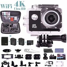 Go Pro Full 1080P HD Ultra 4K Cycle Sports Action Camera Waterproof Helmet Cam