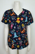 New listing Disney Winnie The Pooh, Tigger, Piglet Eeyore - Women'S Blue Scrub Top - Size Xs