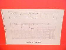 1966 CHEVROLET PICKUP TRUCK C K P-10 20 30 SUBURBAN PANEL FRAME DIMENSION CHART
