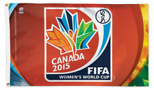 Rare FIFA WOMEN'S WORLD CUP Canada 2015 Huge 3'x5' Official Soccer DELUXE FLAG