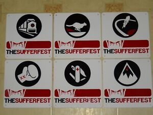 Wahoo - The Sufferfest X6 Acrylic Signs. X6 Rider Types Bundle Deal.